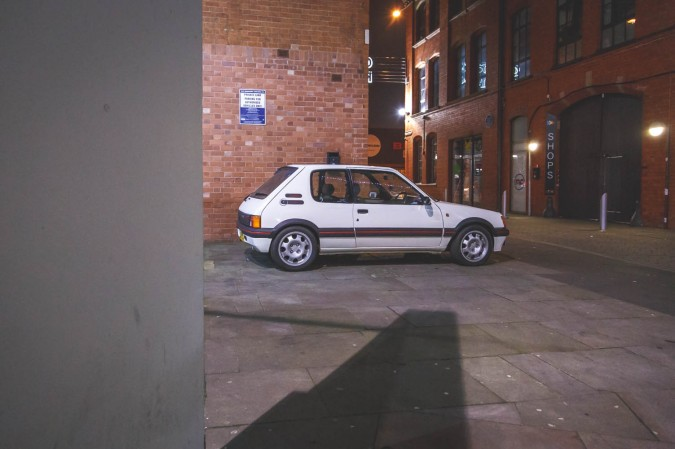 The Peugeot 205 GTI Side on. Pug 205 GTi