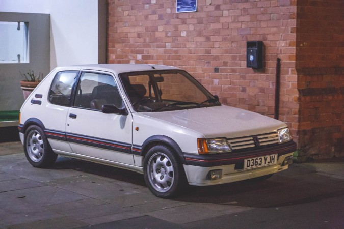 Peugeot 205 GTI White At Night