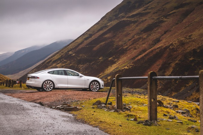 Tesla Model S P85 Scotland Trip 185 - Best Driving Road In the UK.