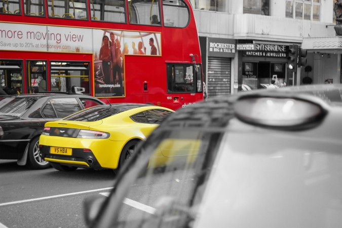 Knightsbridge Car Spotting London 21 Yellow Aston Marin Vantage