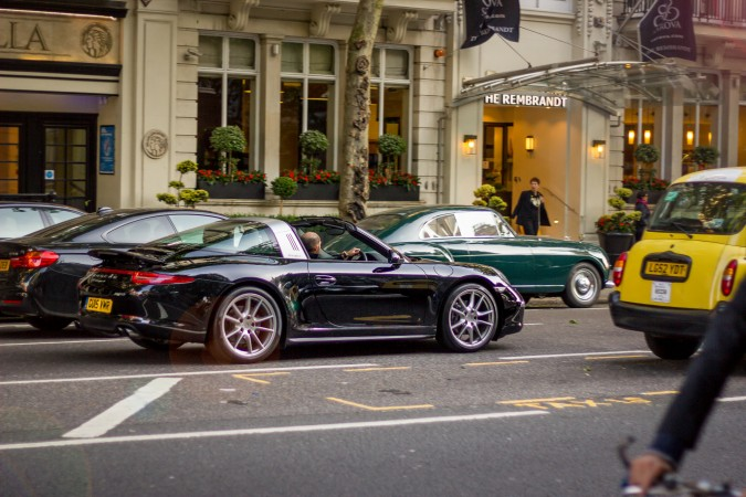 Knightsbridge Car Spotting London 3 Porsche 911 Targa