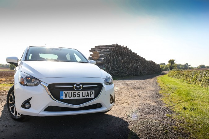 Mazda2 Sport Nav White front on 2015
