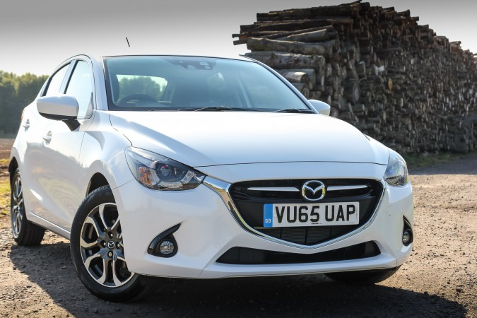 Mazda2 Sport Nav 2015 Review Alloys, front,