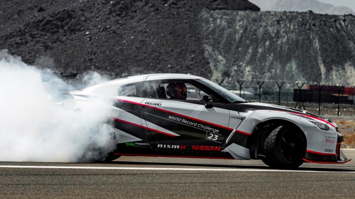 2016 nissan gt r nismo breaks the guinness world records title for fastest drift