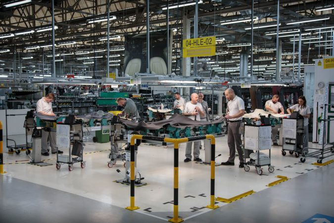 Bentley Factory - Bentayga Production Line - Employees working