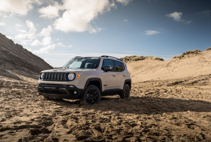 limited jeep renegade desert hawk is first car to tow a board rider. Black Bedroom Furniture Sets. Home Design Ideas