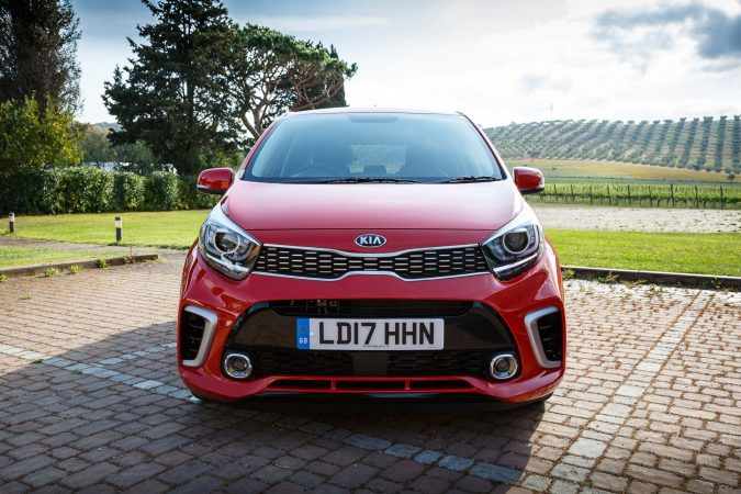 Kia Picanto GT-Line S red front on