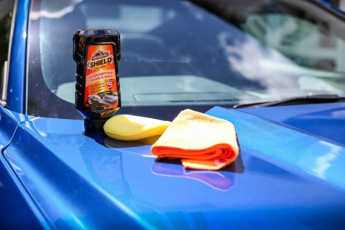 Armor All Shield Wax On Ford Mustang Bonnet