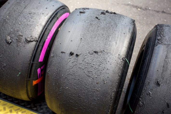 Used slick tyres Austrian GP 2016 2