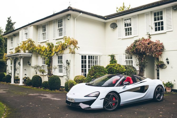 570S Spider at Muriwai House