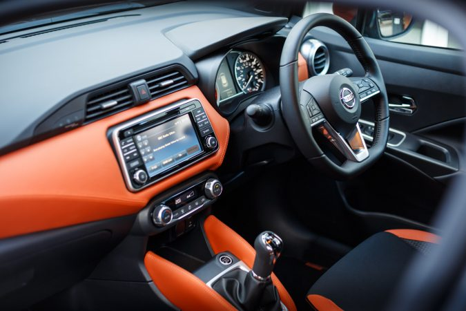 2018 Nissan Micra K14 Energy Orange interior