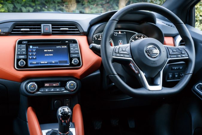 2018 nissan micra orange interior