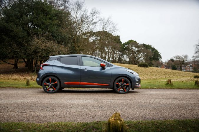 2018 nissan micra size view grey and orange