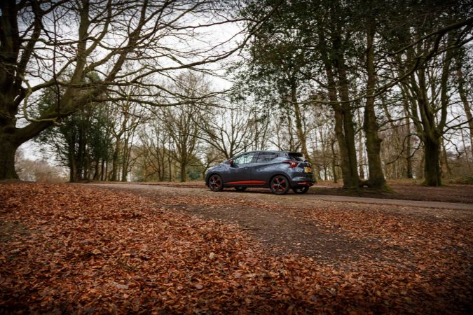 2018 nissan micra driving up hill leaves