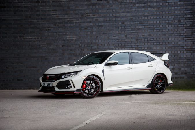 Honda Civic Type R GT FK8 2018 - In Championship White againt black wall