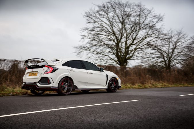 New Honda Civic Type R Championship White Driving 2018 FK8