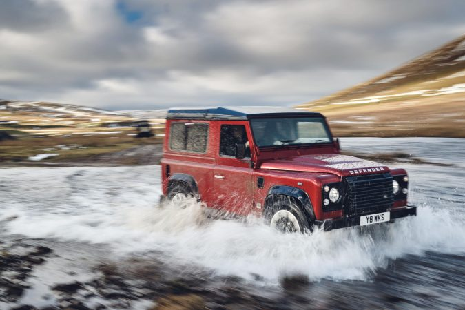 Land Rover Defender Works V8 in water