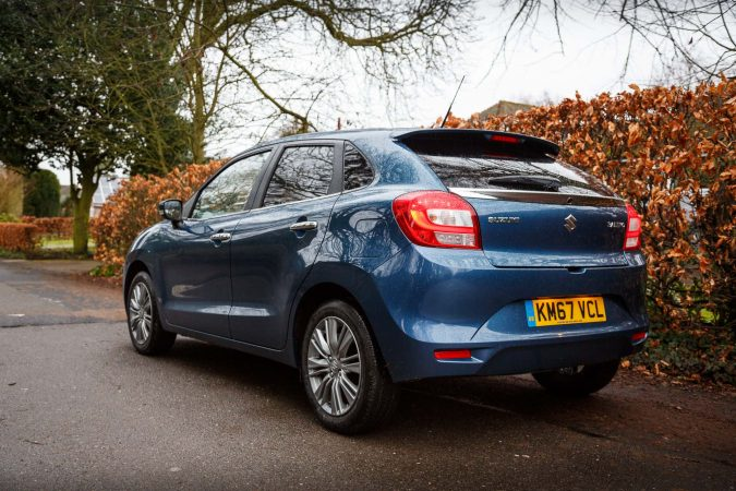 Suzuki Baleno Ray Blue 2018 SZ5 Rear Side on