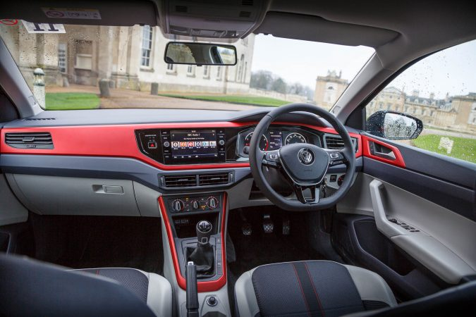 2018 Volkswagen Polo Beats Interior Red Highlights