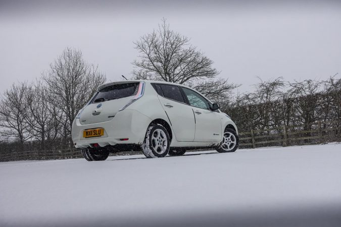 Nissan Leaf Winter 2018 Snow 0033