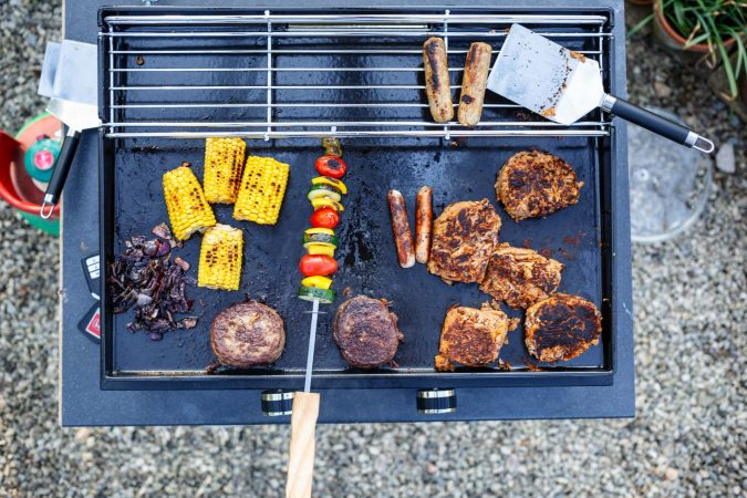Meat on BBQ - Plancha Grill