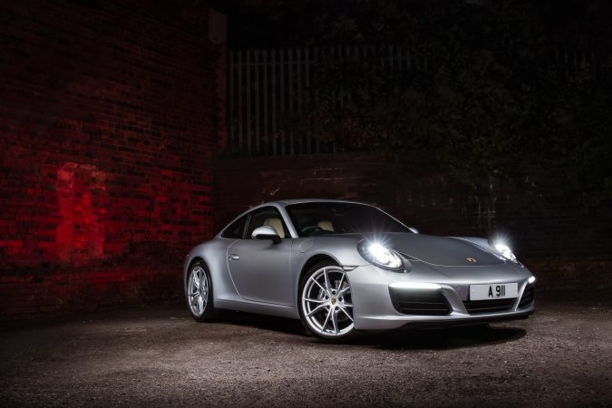 Porsche 911 Carrera 2018 Light Painting Picture Front