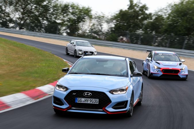 Hyundai N Brand Cars at Nurburgring