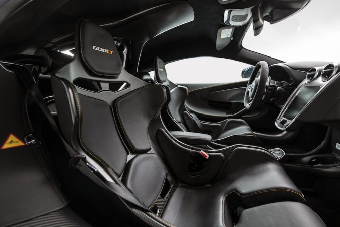 MSO McLaren 600LT interior, Racing seats from McLaren Senna