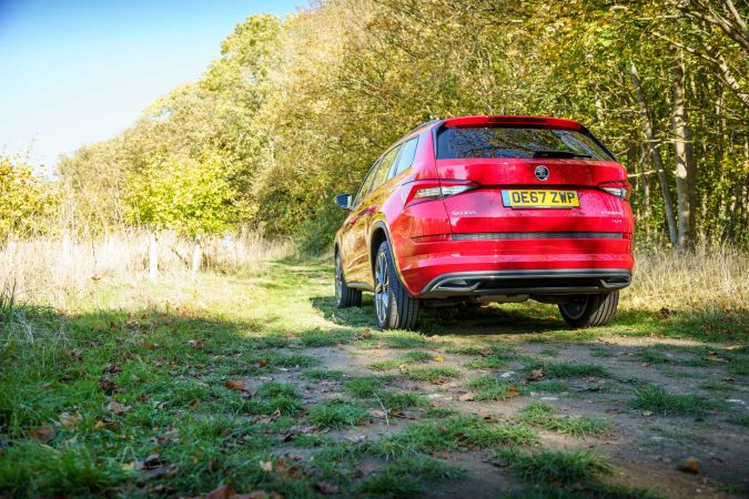 Skoda Kodiaq Review Rear Red