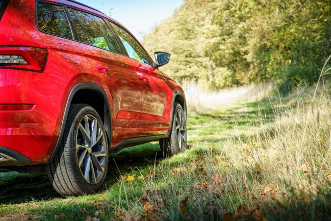 Skoda Kodiaq Review Red Side On