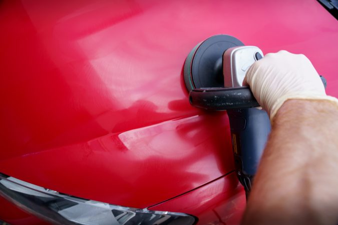 machine polisher . - Restore Car Paintwork red