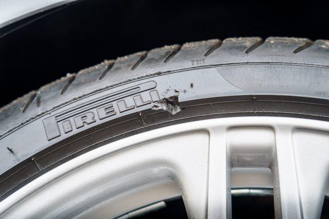Look out while driving as to damage caused on tires.