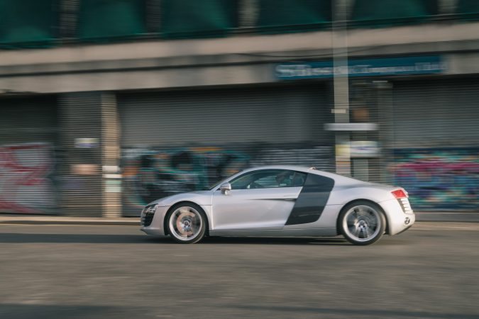 Testing Road Angel Pure in the Audi R8