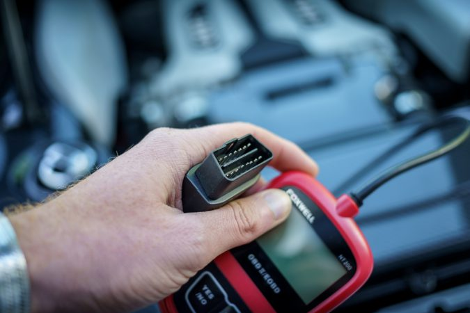 Reset check engine light with OBD - 2