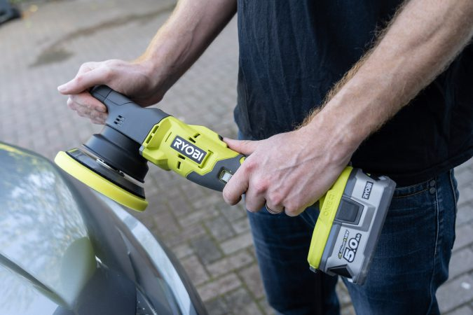 Ryobi One+ Dual Action Polisher test