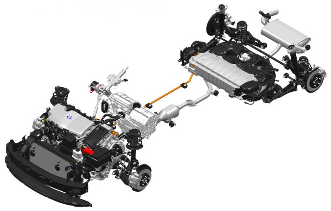 toyota prius battery and suspension system