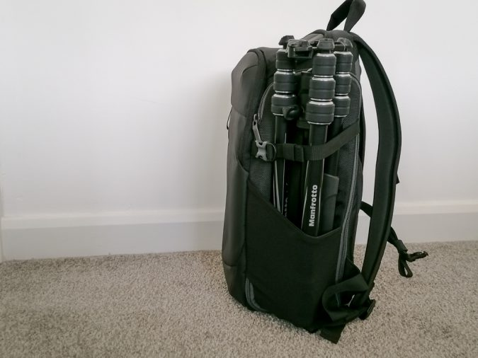 However, just one big tripod makes the whole bag a bit weighty to one side.