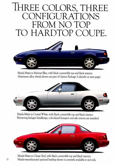 Mazda Miata 1990 configurations