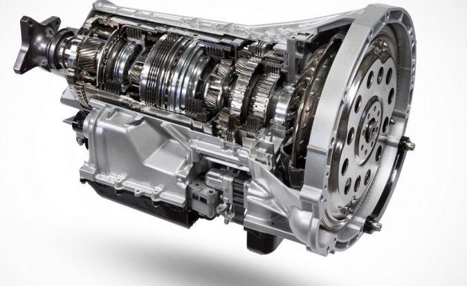 Transmission gearbox Ford 10-speed cutaway diagram